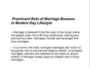 Prominent Role of Marriage Bureaus in Modern Day Lifestyle