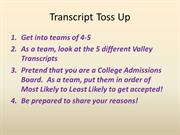 How to read your transcript 2012-2013