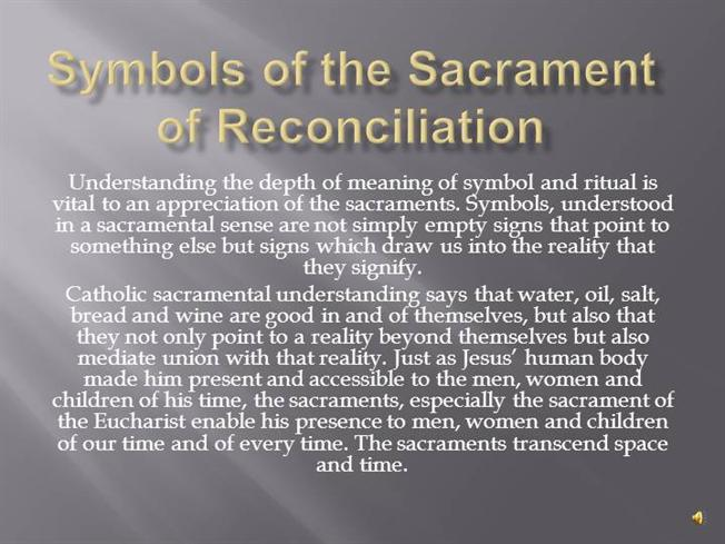 Symbols Of The Sacrament Of Reconciliation Authorstream