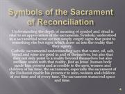 Symbols of the Sacrament of Reconciliation
