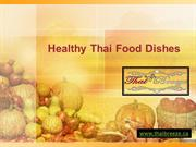 Healthy Thai Food Dishes