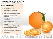 ORANGES AND APPLES POWERPOINT SLIDES