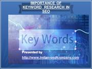 Importanceof Keyword Research in SEO