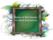 Basics of Web Design For Small Businesses