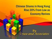 Cruse and Associates on  Chinese Shares in Hong Kong Rise