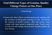 Find Different Types of Genuine, Quality Vintage Posters at One Place