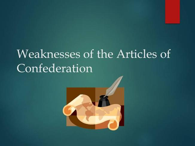 articles of confederation thesis