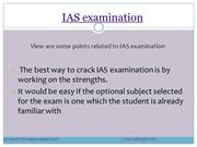 Contents For ias examination