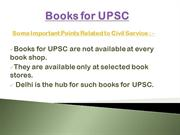 Books for UPSC