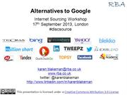 Alternatives to Google