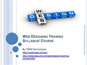 17-09-2013 Web Designing Training Syllabus Course