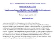 ADJ 215 Week 4 Assignment Socialization and Criminal Behavior