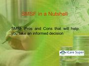 SMSF in a nutshell A heads up on the Pros and Cons