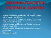 National education system - a seminar