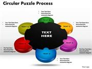 6 STAGES 3D CIRCULAR PUZZLE PROCESS CHART BUSINESS