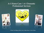 In Home Care Service from A-1 Home Care