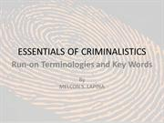 Essentials of Criminalistics