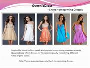 Short Homecoming Dresses Collections-QueenieDress