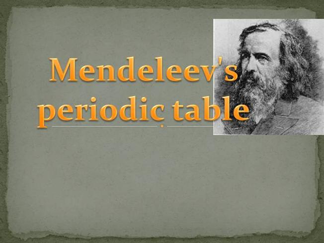 mendeleev periodic table organized by