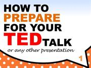 how to prepare for your ted talk