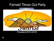 Fernald Throw Out Party