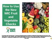 Fruit and Veg Checks Module