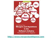Mergers and Acquisitions in software: Due Diligence Foundations Book