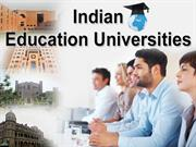 Provide proper platform to future career with quality Indian education