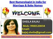 Best Numerologist in India, Numerology for Marriage and Baby Names by