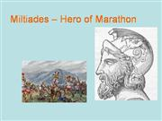 Miltiades – Hero of Marathon