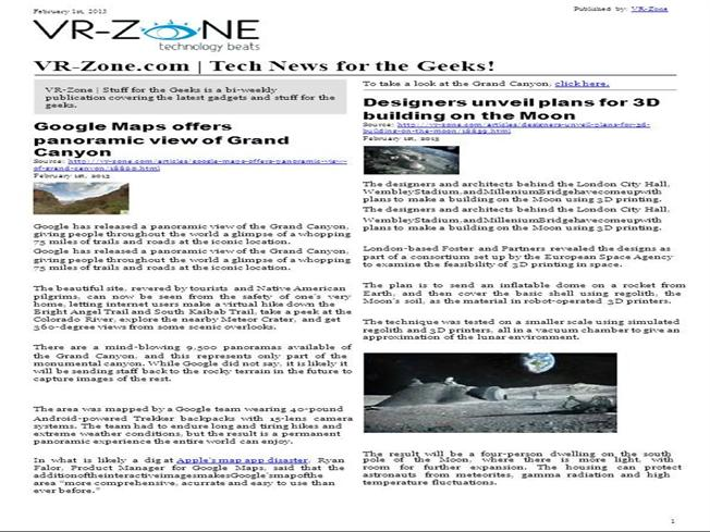 VR-Zone Tech News for the Geeks Feb 2013 Issue |authorSTREAM