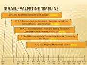 Israel Palestine Timeline With Answers