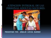ATENCION INTEGRAL  ADULTO MAYOR