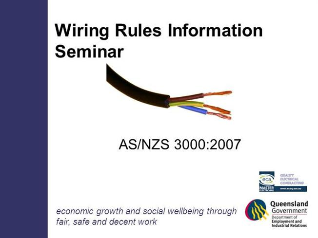 Es wiring rules seminar notes authorstream greentooth Gallery