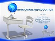 IMMIGRATION AND EDUCATION PP