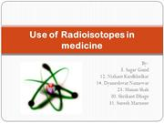 Use of Radioisotopes in medicine