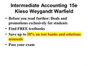 Intermediate Accounting 15e Kieso Weygandt Warfield