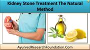 Kidney Stone Treatment The Natural Method