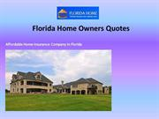 Florida Home Owners Quote
