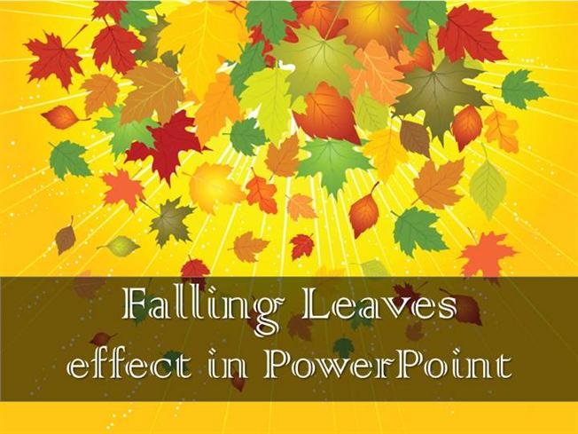 falling pictures effect