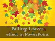 Falling leaves Effect in PowerPoint