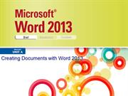 Word 2013 Illustrated Unit A