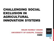 Challenging social exclusion in agricultural innovation systems