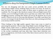 Where to shop for Inexpensive Ralph Lauren Clothes