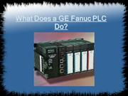 What Does a GE Fanuc PLC Do