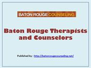 Baton Rouge Therapists and Counselors