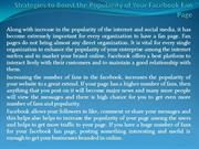 Strategies to Boost the Popularity of Your Facebook Fan Page