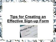 Tips for Creating an Effective Sign-up Form