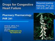 Congestive heart Failure Pharmacy