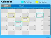 2012 MARCH BUSINESS PLANNER AND CALENDAR